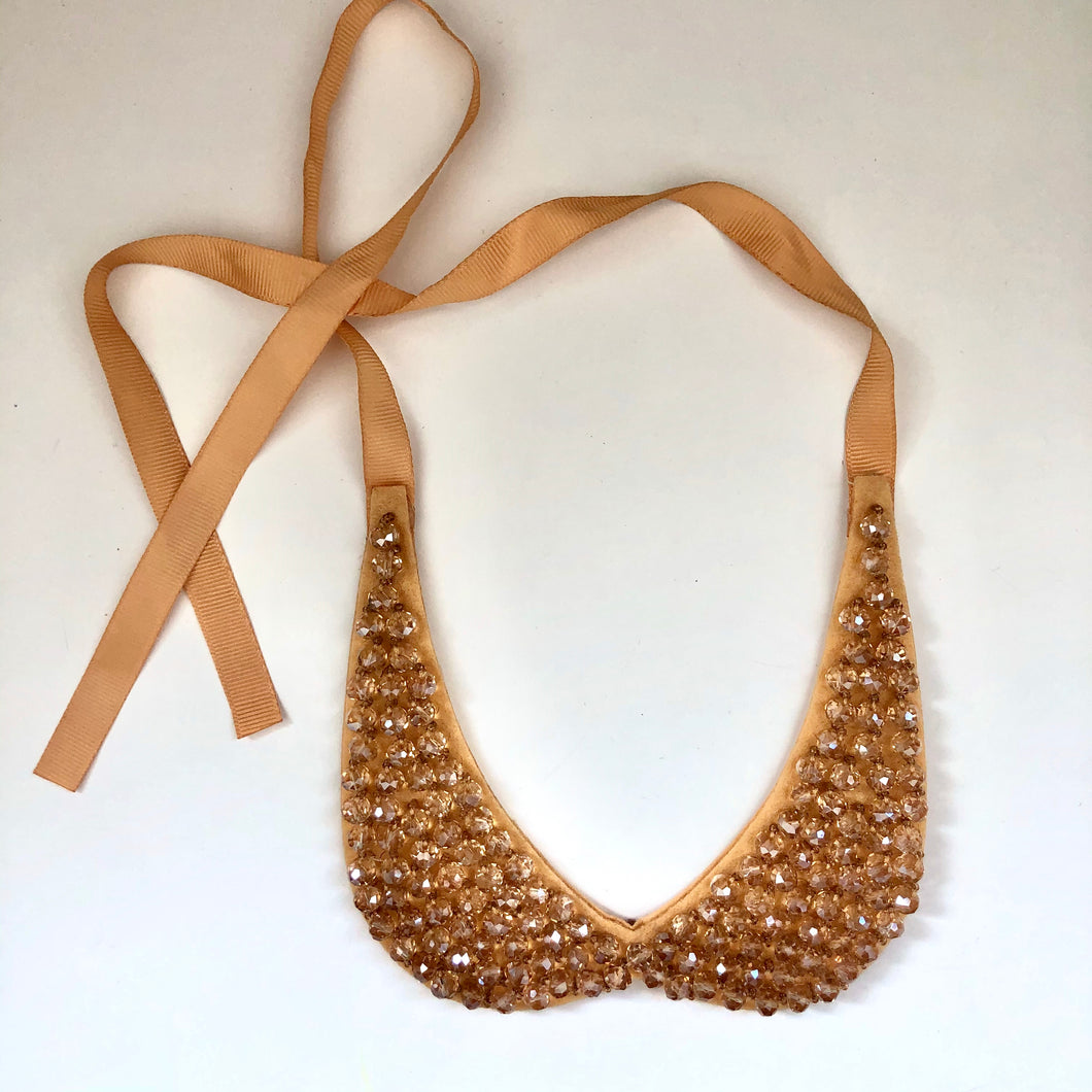 Glass Beads Collar Necklace