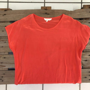Silk Coral Blouse