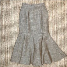 Load image into Gallery viewer, Grey Brazilian Linen Mermaid Knee Length Skirt
