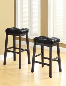 Transitional Black Upholstered Bar Stool image