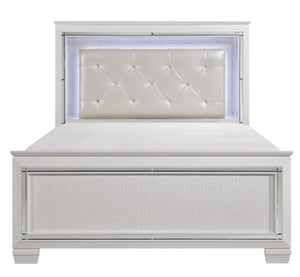Homelegance Allura Queen Panel Bed in White 1916W-1* image