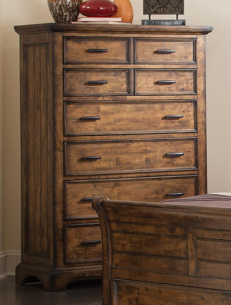 Elk Grove Rustic Eight-Drawer Chest