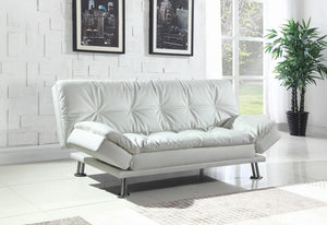 Dilleston Contemporary White Sofa Bed image