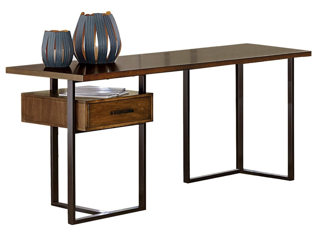 Homelegance Sedley Return Desk with One Cabinet, Reversible in Walnut 5415RF-16* image