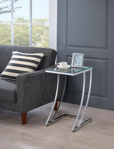 Modern Chrome Accent Table
