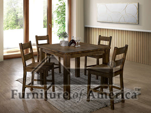 Kristen Ii Rustic Oak Counter Ht. Table
