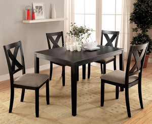 GLENHAM Brushed Black/Gray 5 Pc. Dining Table Set