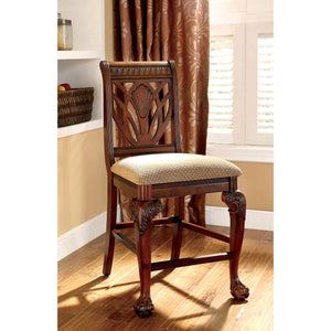PETERSBURG II Cherry Counter Ht. Chair (2/CTN)