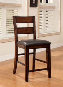 DICKINSON II Dark Cherry Counter Ht. Chair (2/CTN)