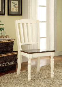 HARRISBURG Vintage White/Dark Oak Side Chair (2/CTN)