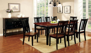 "DOVER Black/Cherry Dining Table w/ 18"" Leaf"