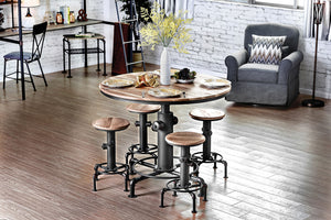 Foskey Antique Black 5 Pc. Dining Table Set