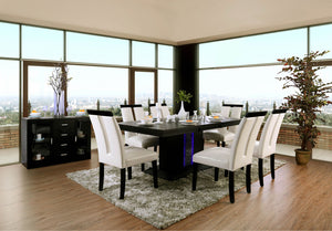 Evangeline Black/Beige 7 Pc. Dining Table Set image