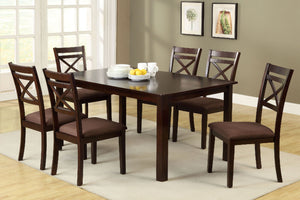 Weston II Espresso 7 Pc. Dining Table Set