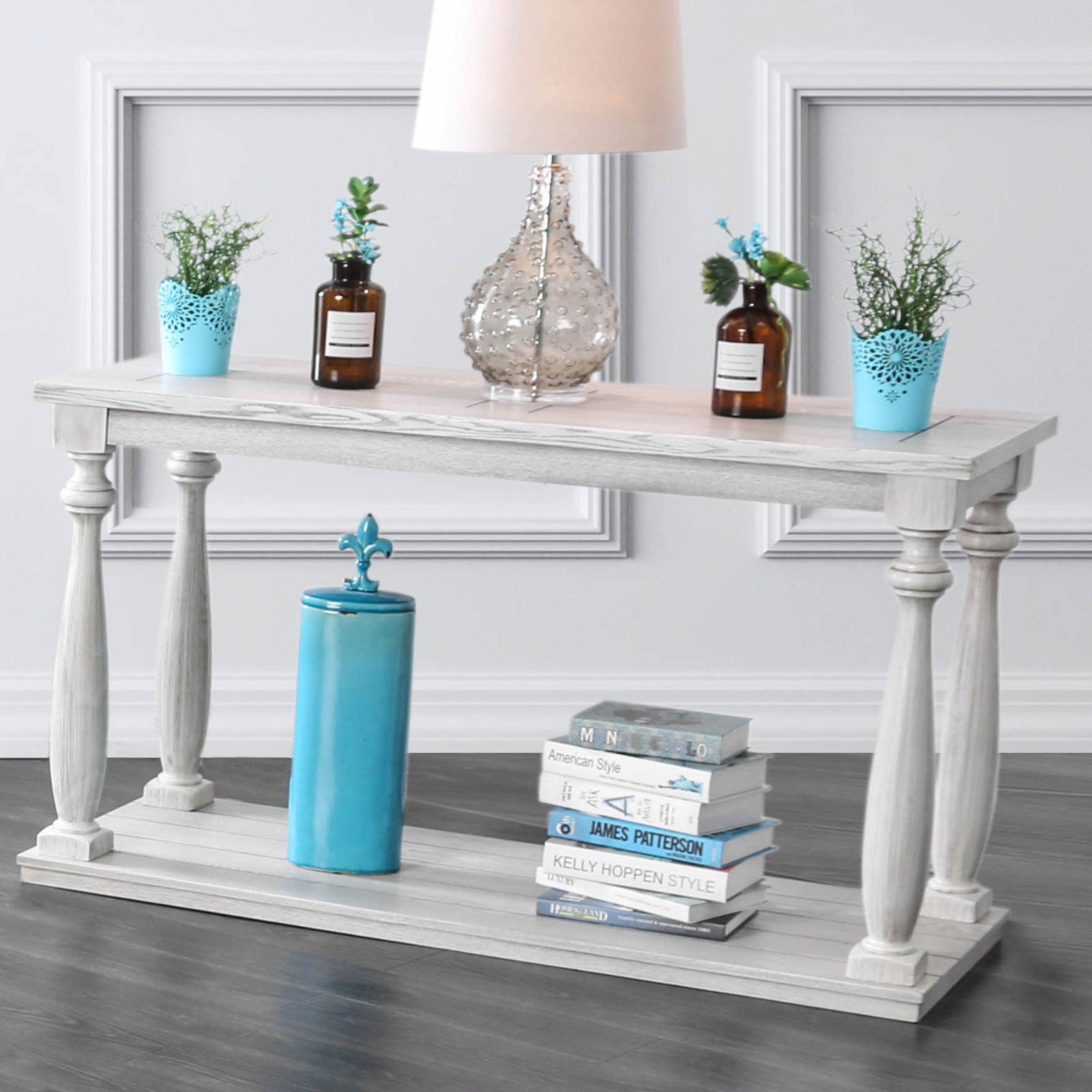 Arlington Antique White Sofa Table