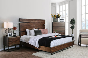 Fulton Dark Oak/Dark Walnut 5 Pc. Queen Bedroom Set w/ Chest image