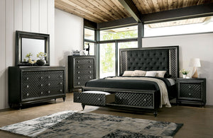 Demetria Metallic Gray 4 Pc. Queen Bedroom Set image