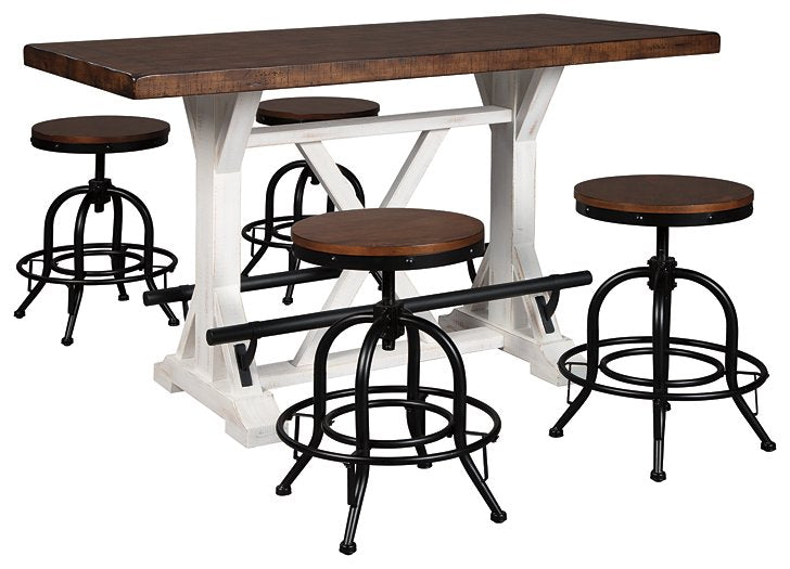 Valebeck Signature Design Counter Height 5-Piece Dining Room Set