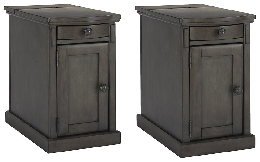 Laflorn Gray Signature Design 2-Piece End Table Set