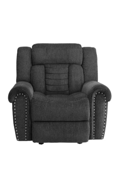 Homelegance Furniture Nutmeg Glider Reclining Chair in Charcoal Gray 9901CC-1 image