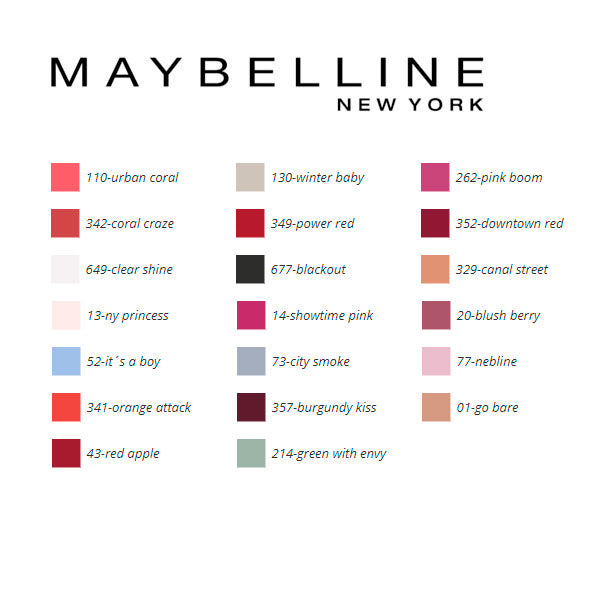 nail polish Color Show Maybelline