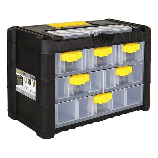 Portable Tool Chest Bricotech Black Yellow (40 X 20 x 26 cm)