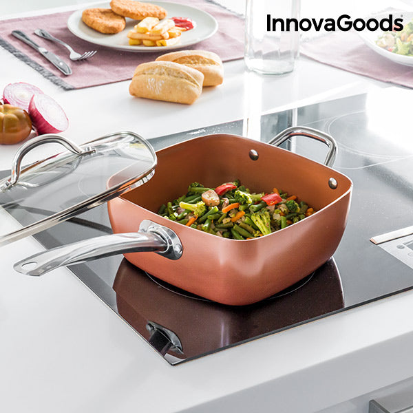 InnovaGoods All-Purpose Copper Pan Set 5 in 1 (4 Pieces)