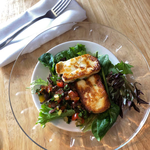 Halloumi with Mediterranean Relish