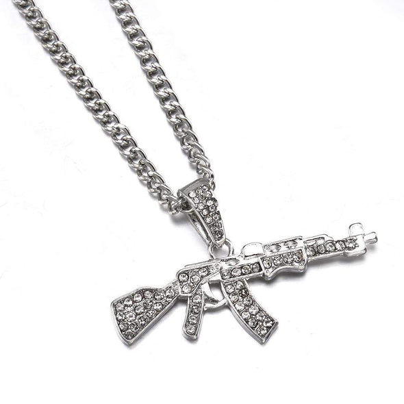 Rifle Hip-Hop Bling Chain