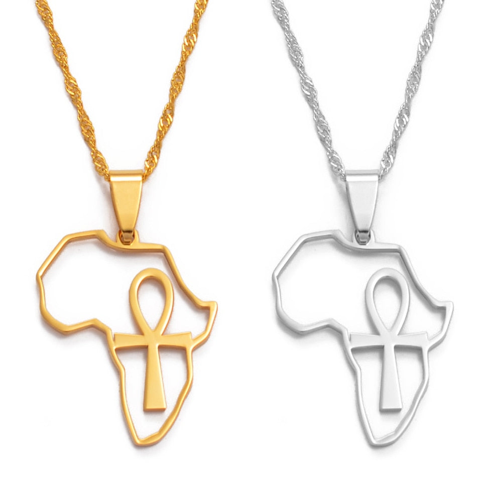 Mother Africa Ankh Necklace