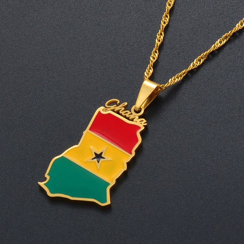 Ghanian Pride Necklace