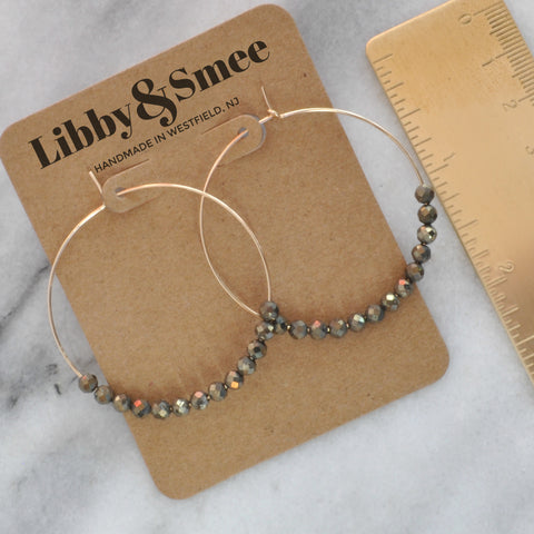 Libby & Smee gold filled pyrite hoops