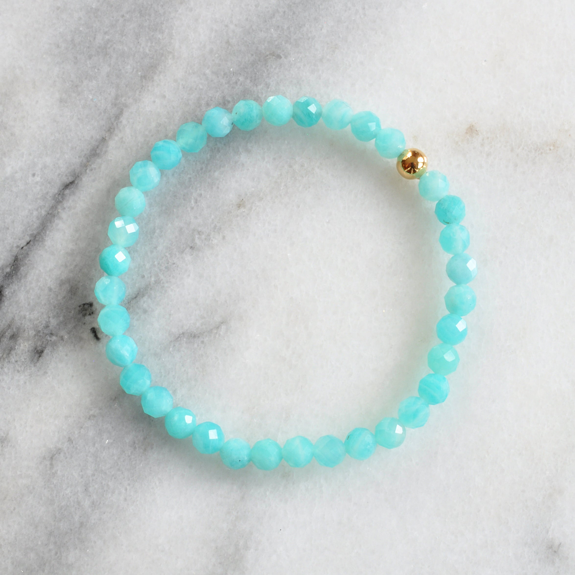 Amazonite Gemstone Stretch Bracelet