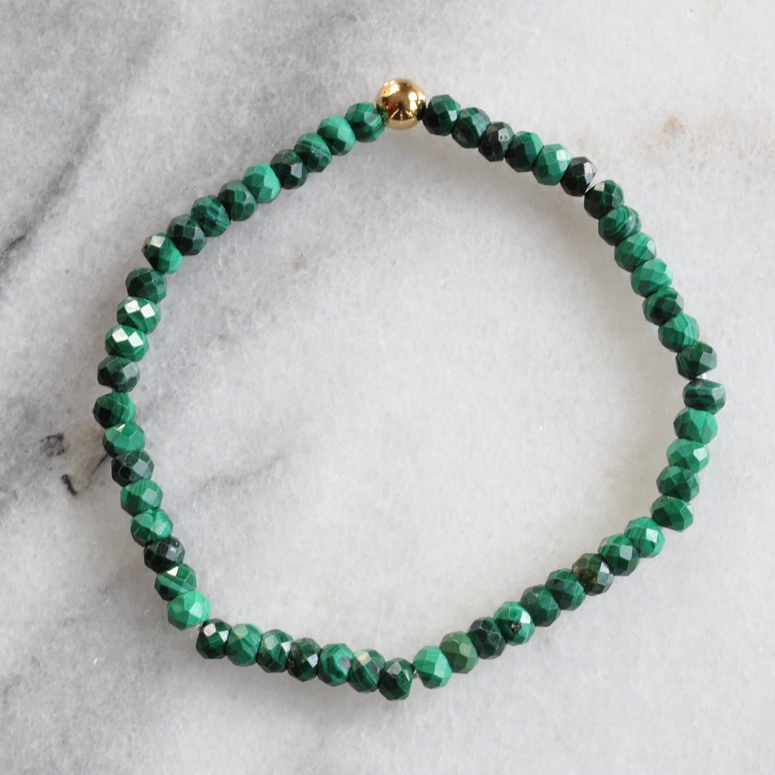 Malachite Gemstone Stretch Bracelet