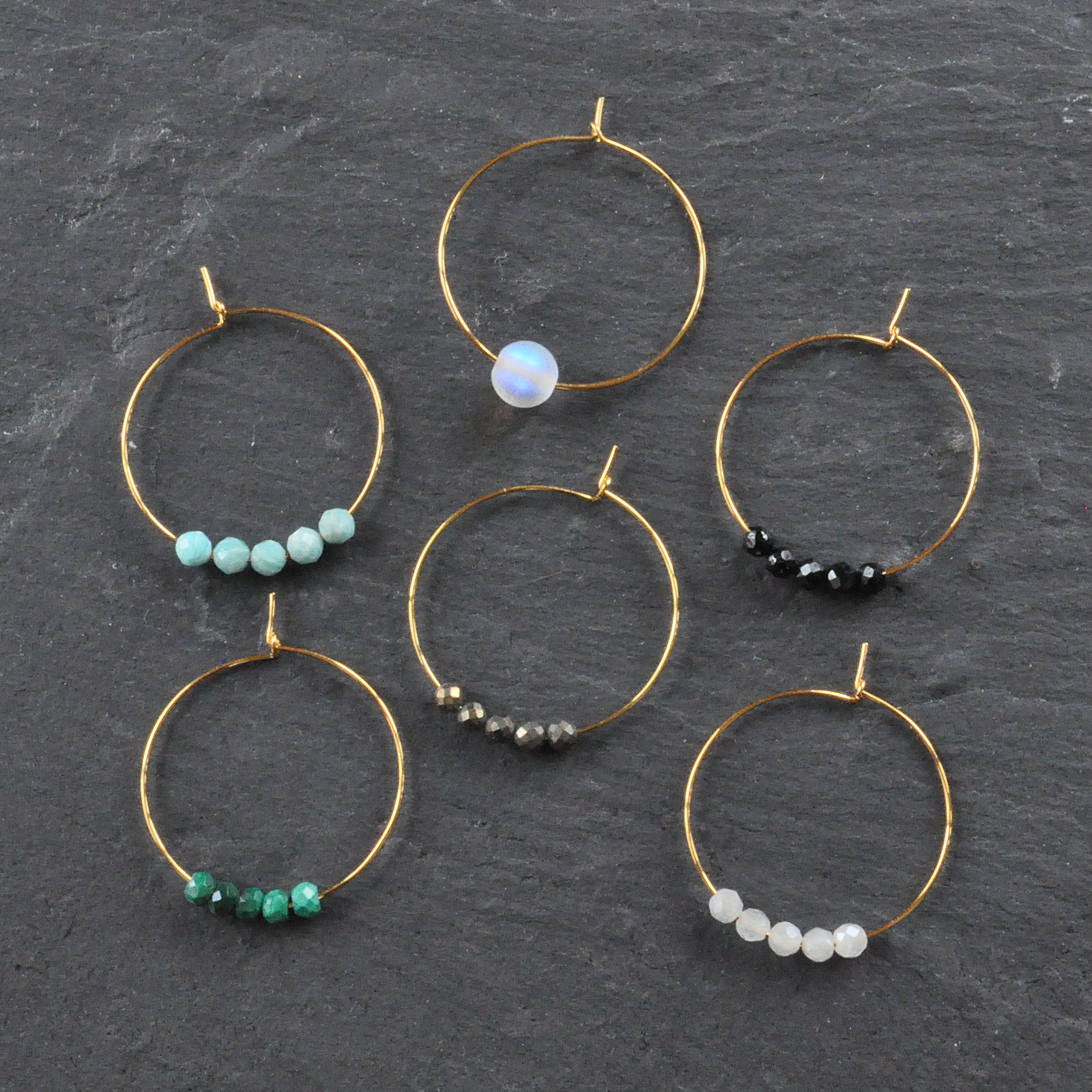 Libby & Smee gold plated hoops
