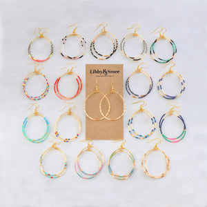 Big Beaded Hoops - RAINBOW