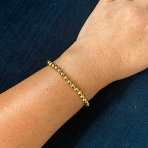 Libby & Smee 5mm gold plated beaded bracelet