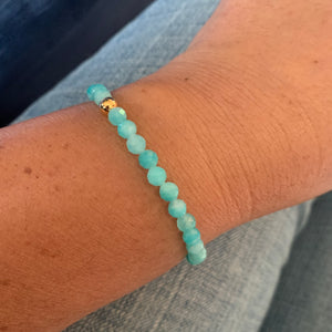Libby & Smee amazonite stretch bracelet