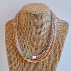 Libby & Smee crystal bead necklaces on mannequin