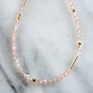 Libby & Smee crystal bead necklaces pink with mixed beads