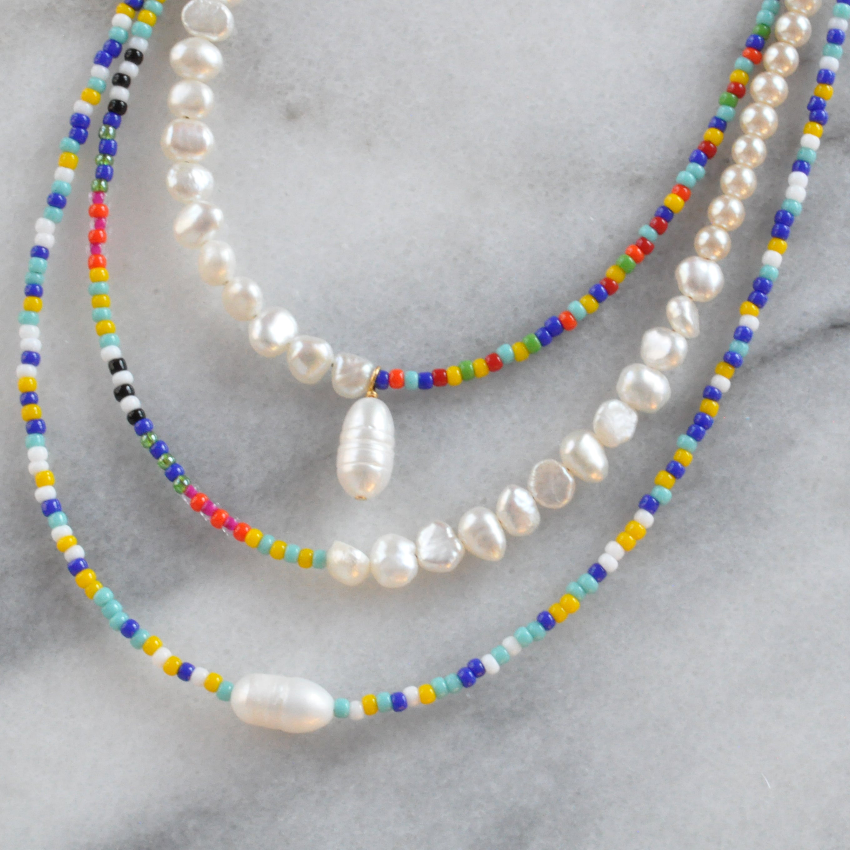 Pearl Mix Necklaces