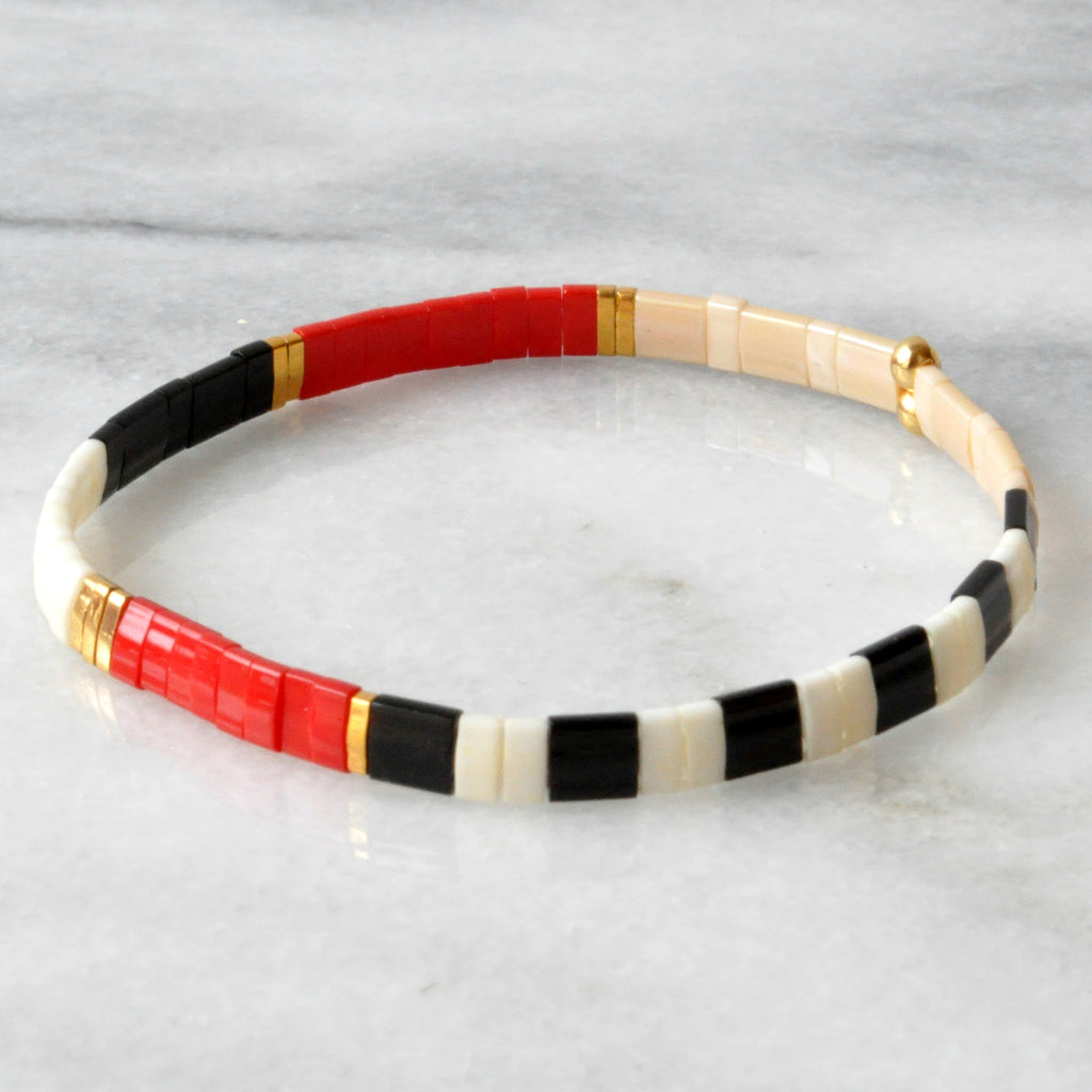 Libby & Smee stretch tile bracelet in Graphic