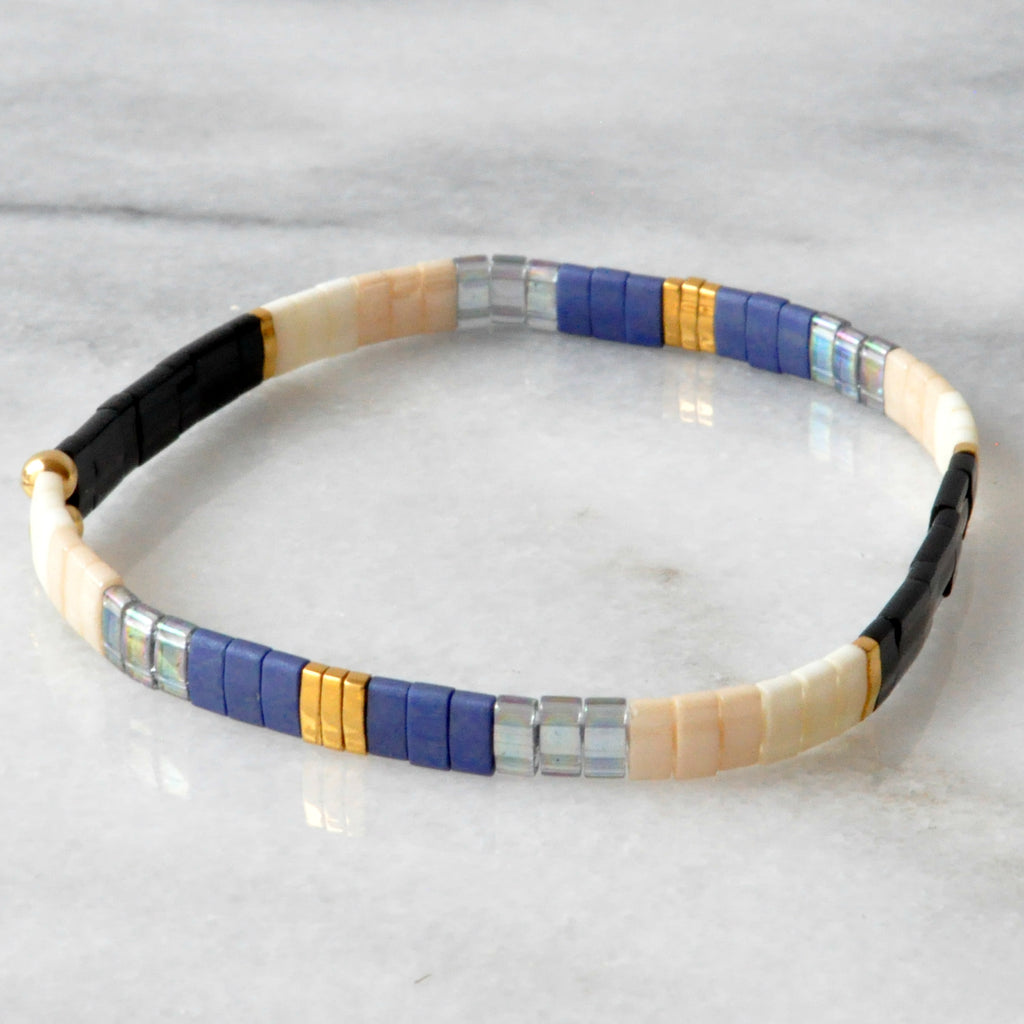 Libby & Smee stretch tile bracelet in Midnight Colorblock