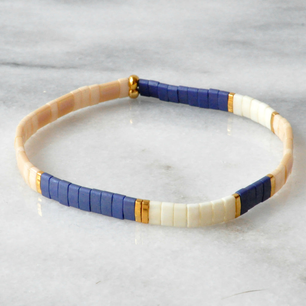 Libby & Smee stretch tile bracelet in Nautical