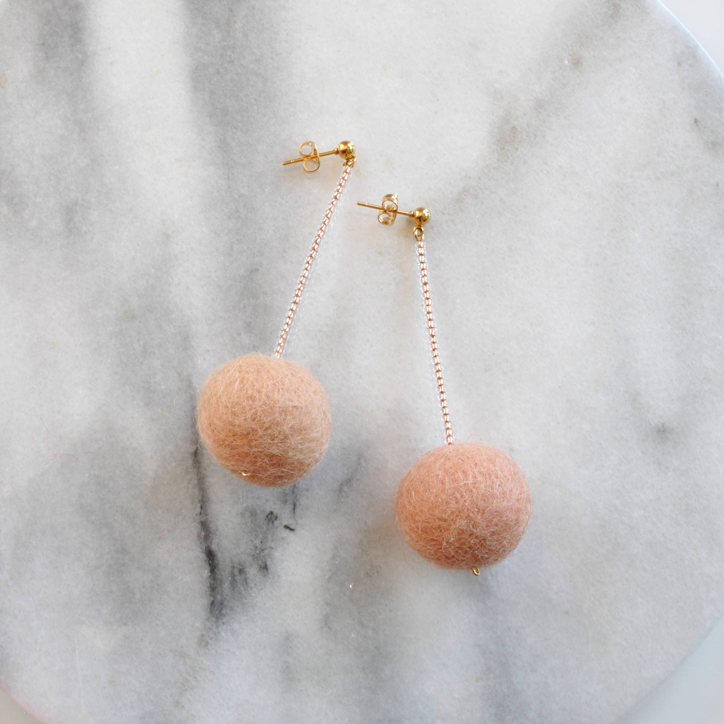 Libby & Smee Blush Earrings,  Still life