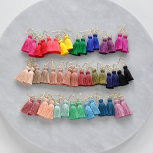 Libby & Smee Mini Boho Tassel Earrings in 23 different colors