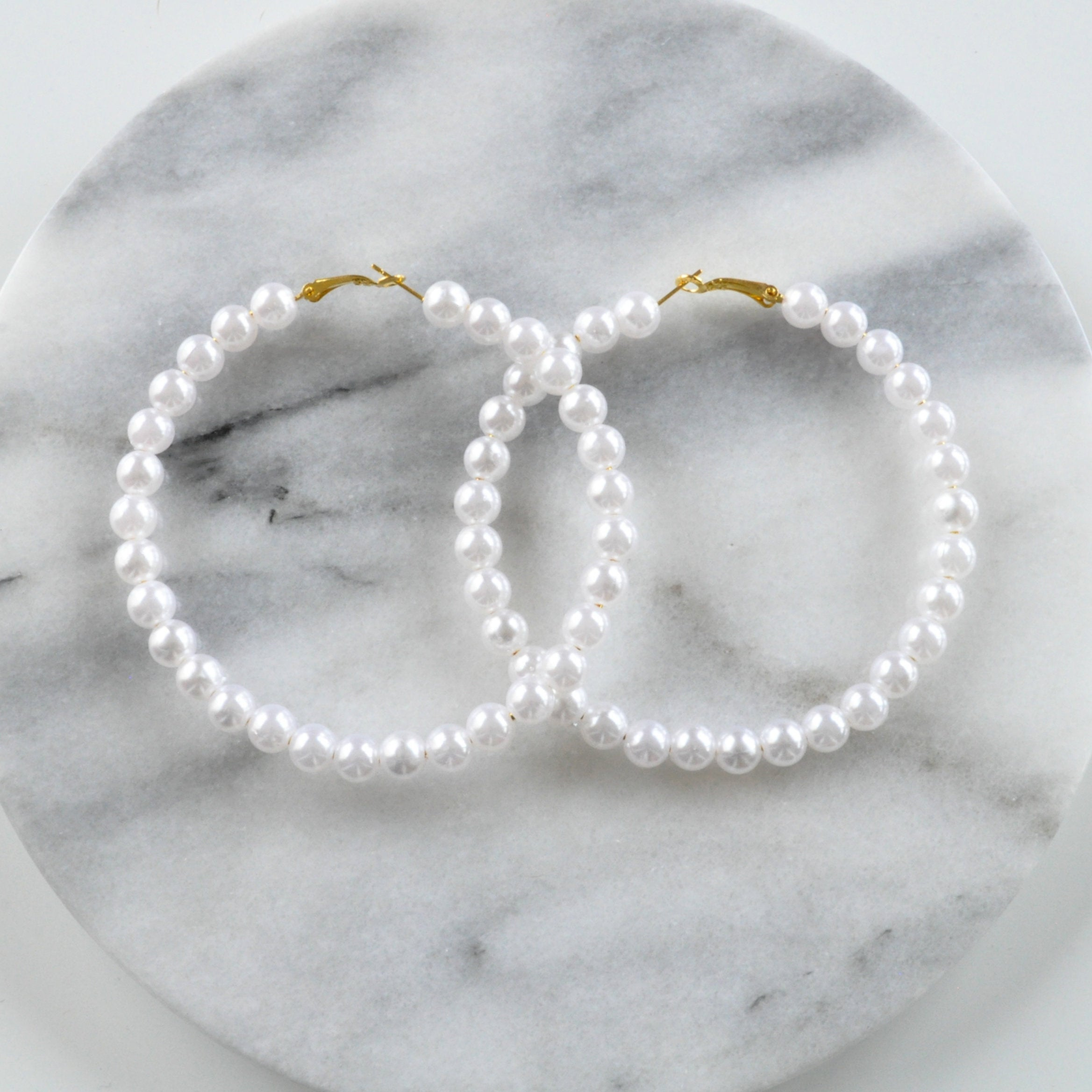 Libby & Smee huge pearl hoops