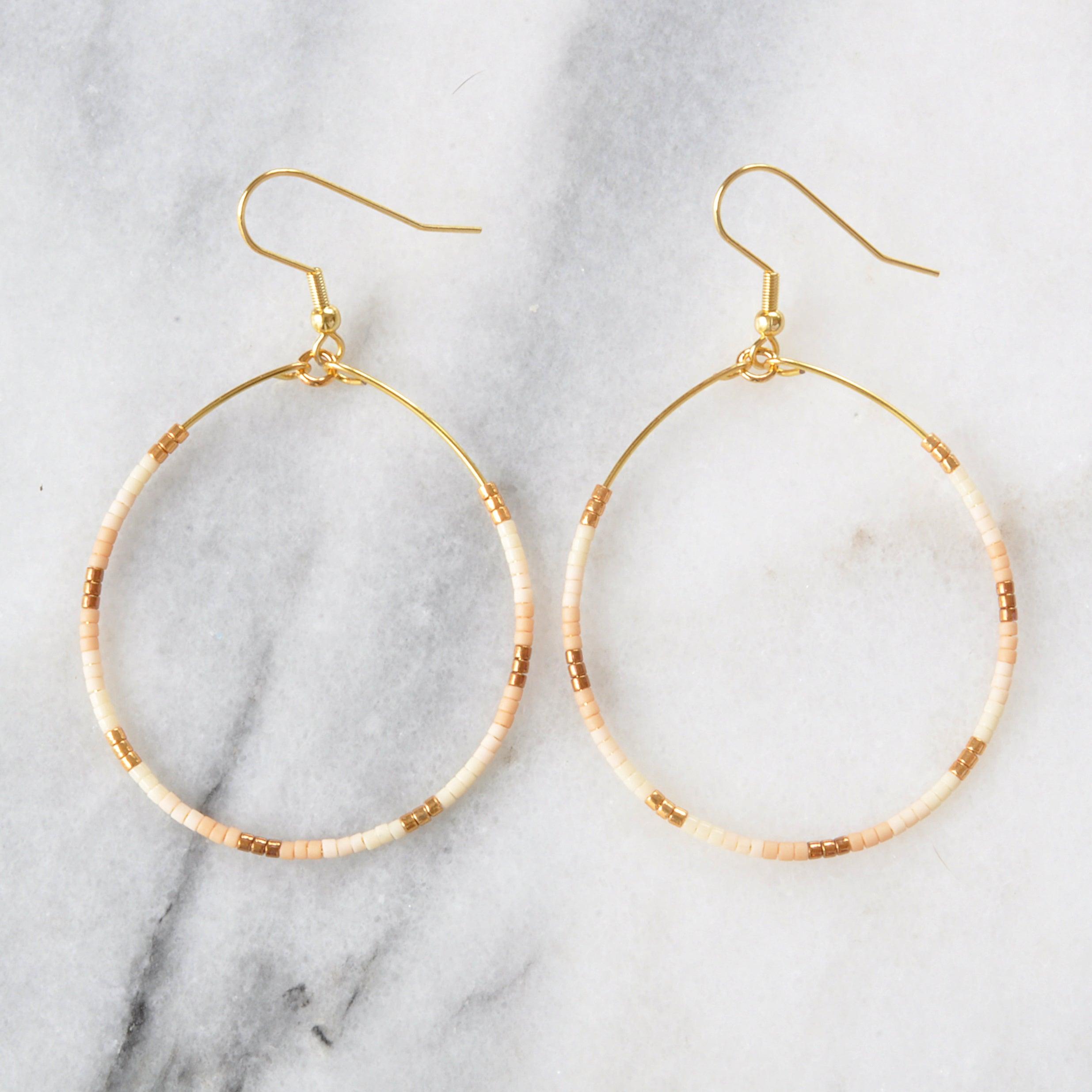 Libby & Smee big beaded hoop earrings