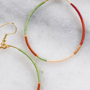 Big Beaded Hoops - ROAM