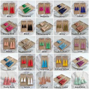 Classic Tassel Earrings in 25 Colors